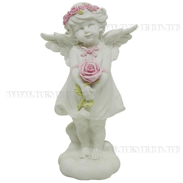 Фигурка декоративная Ангелочек счастья, L14W9,5Н25см оптом