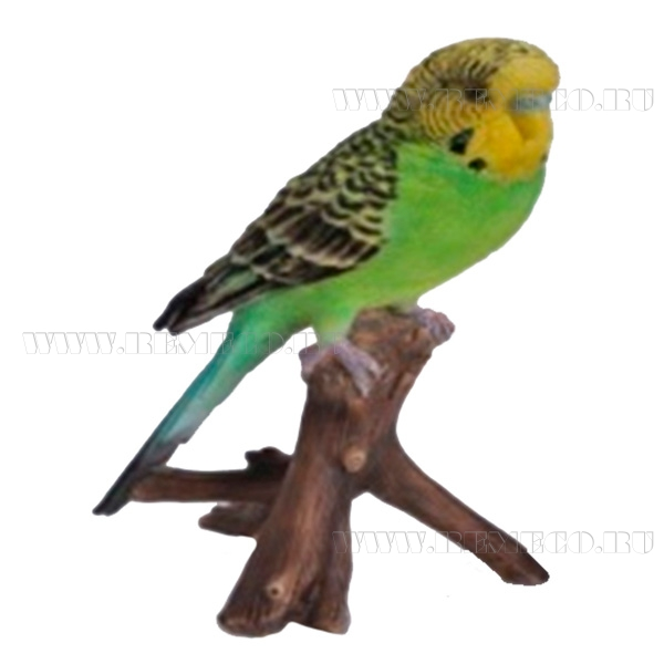 Фигура декоративная садовая навеснаяЗеленый попугайL9,7W8H16,5см оптом