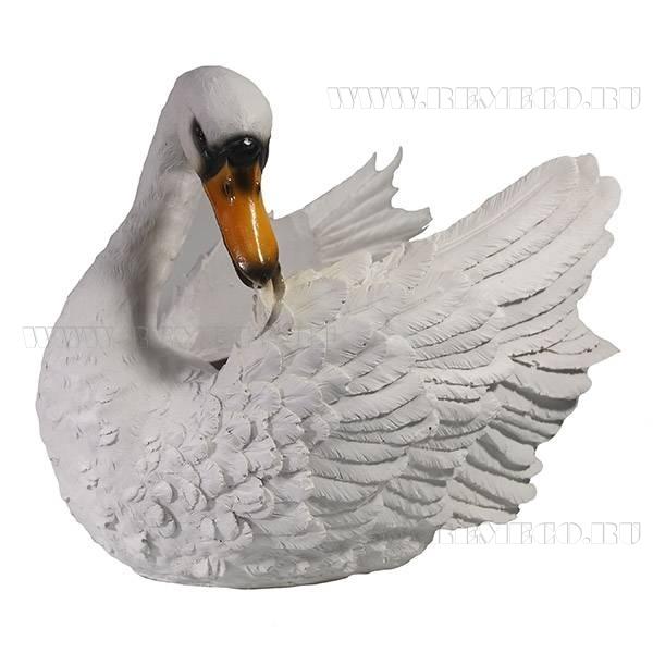 Кашпо декоративное Лебедь L31W19H26 см оптом