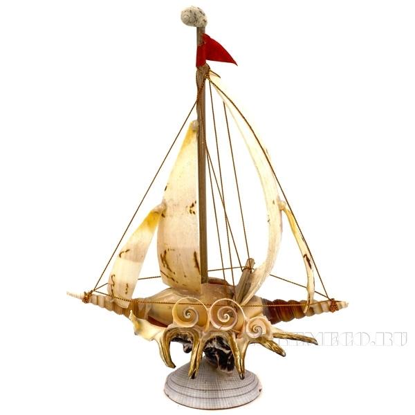 Изделие декоративное из ракушек Кораблик, L19 W11 H25 см оптом