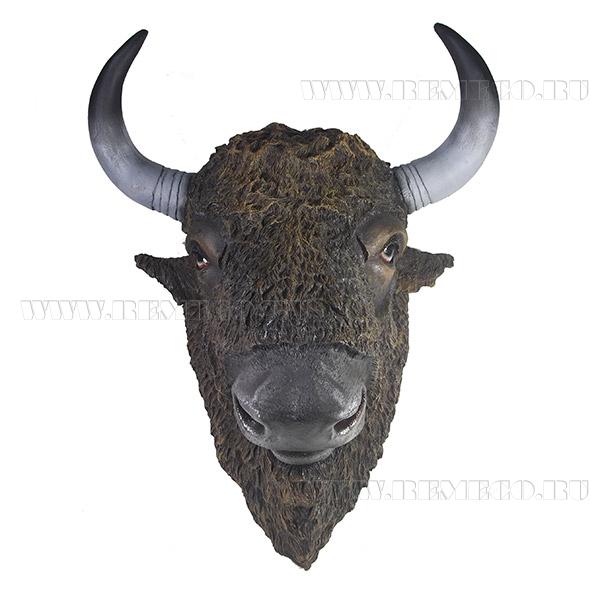 Фигура декоративная Голова бизонаL51W61H32см оптом
