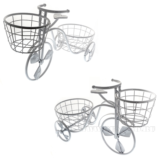 Кашпо Велосипед(без упаковки), L49W21H35см оптом