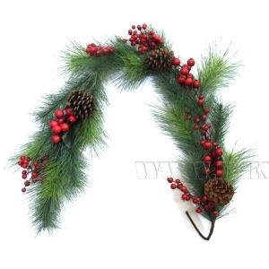 Новогоднее украшение Гирлянда, L155 W20 H8 см (без упаковки) оптом