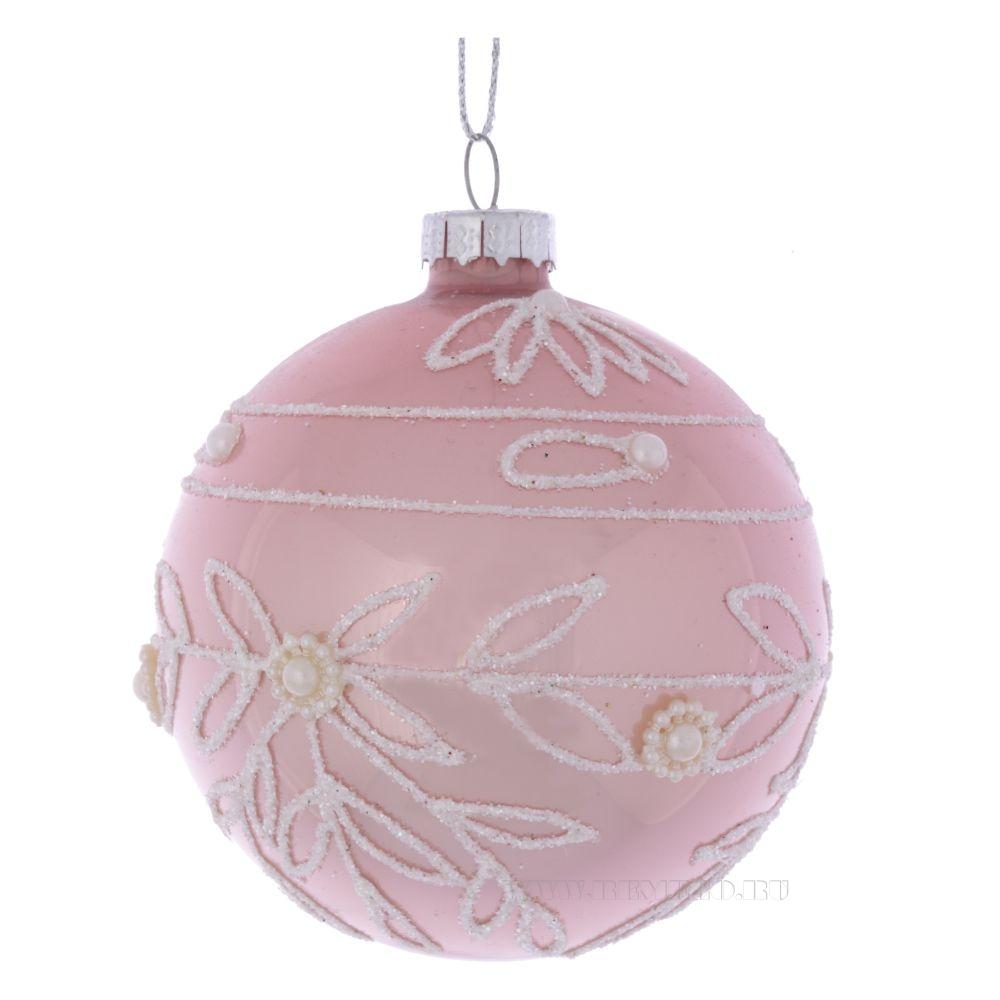 Новогоднее украшение Шар, D8 см (без инд.упаковки) оптом