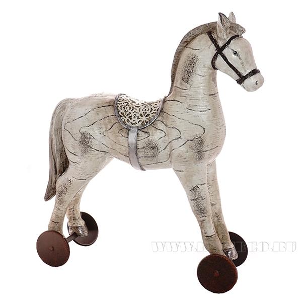 Фигурка декоративная Лошадка, 31х11х37.5 см оптом