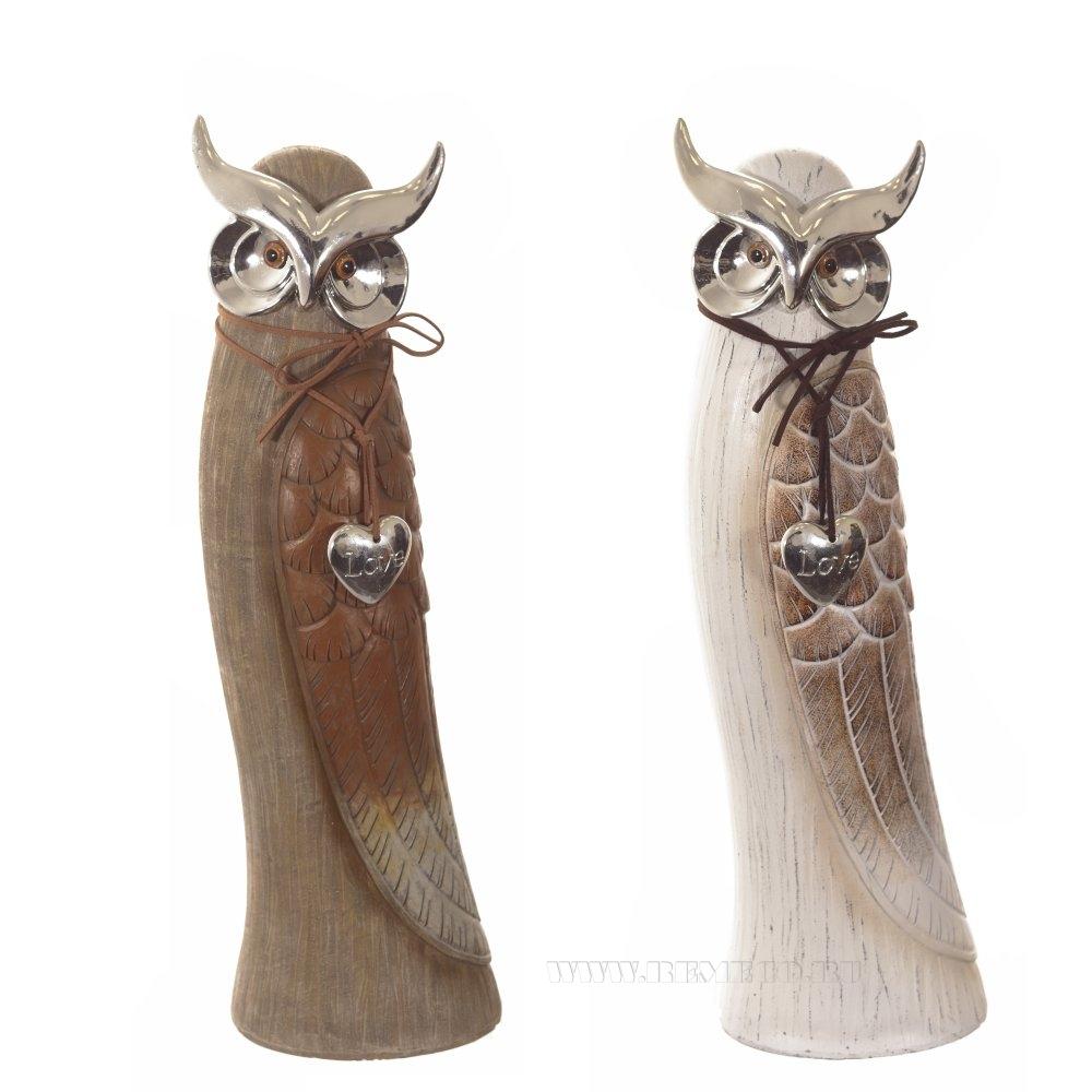 Фигурка декоративная Сова, 12.5х11х28.5 см, 2в. оптом