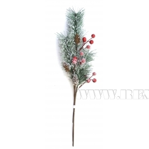 Новогоднее украшение Ветка, 50x11 см (без инд.упаковки) оптом