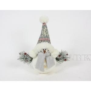 Фигурка декоративная Снеговик, 18x11x14 см оптом