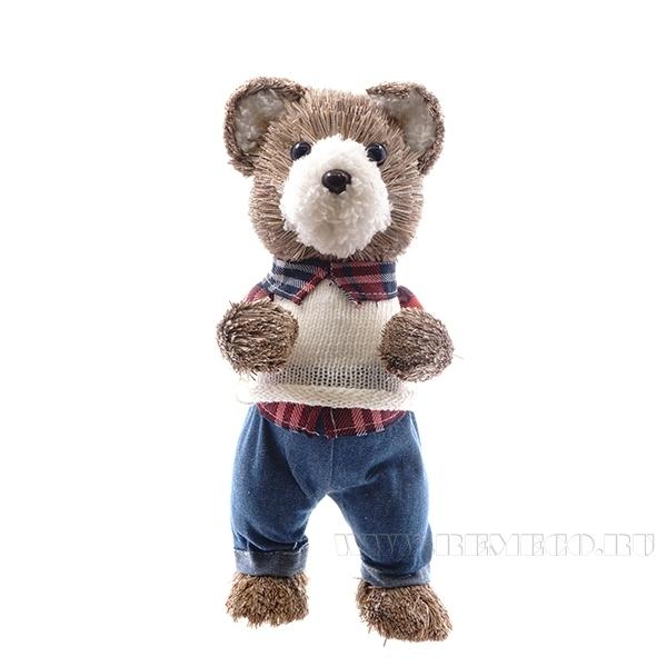 Фигурка декоративная Медведь, 14x14x29 см (без инд.упаковки) оптом