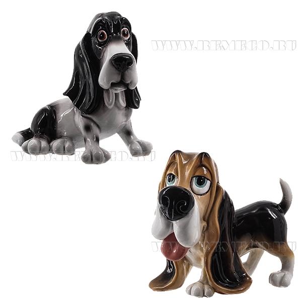 Фигурка декоративная Собака, 11.3x7.8x10.7 см, 2в. оптом