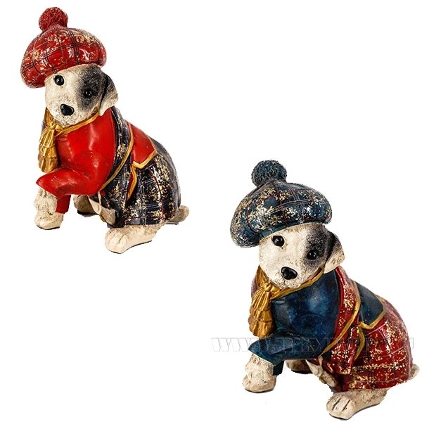 Фигурка декоративная Собака, 15x10x18см, 2в. оптом