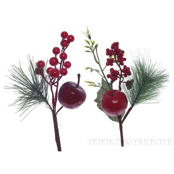 Новогоднее украшение Ветка, H23 см, 2в. (без инд.упаковки) оптом