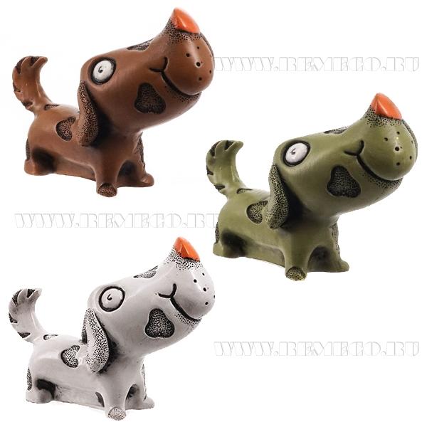 Фигурка декоративная Собака, 7.5x4x5.5 см, 3 в. оптом