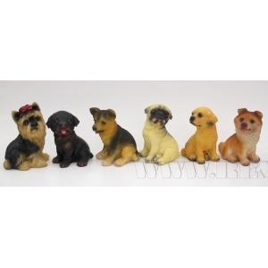 Фигурка декоративная Собака, 9.5x7x13 см, 6в. (без инд.упаковки) оптом