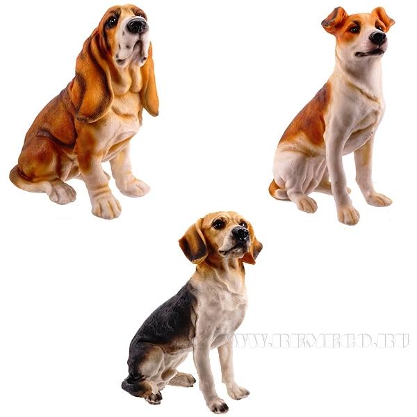 Фигурка декоративная Собака, 14x9x21 см, 4в. оптом