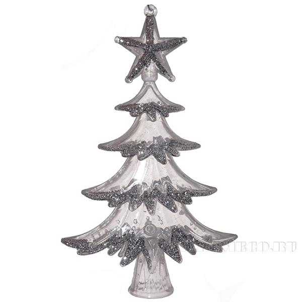 Новогоднее украшение Ёлка, 9x2x14.5 см оптом