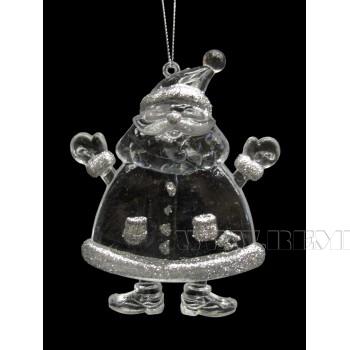 Новогоднее украшение Дед Мороз, 8.5x1.8x10.5 см оптом