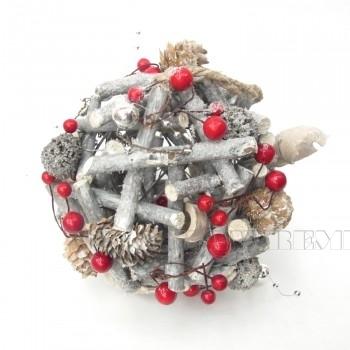 Новогоднее украшение Шар, D15 см оптом