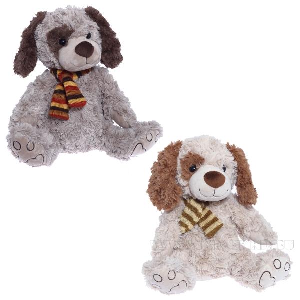 Игрушка мягконабивная Собака, H30см, 2 в. оптом