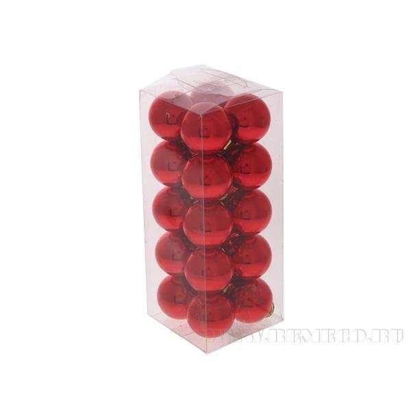 Набор из 20 новогодних шаров, D3 см оптом