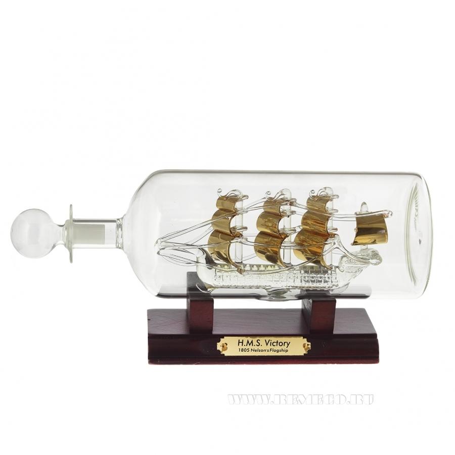 Изделие декоративное Корабль в бутылке , L24.8 W8 H11.5 см оптом