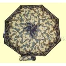 Зонт 23 цв., полный автомат, Синие огурцы на бежевом