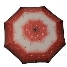 Зонт 23, полный автомат, (Цветы на розовом фоне)