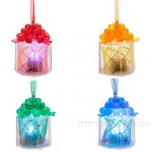"""Новогоднее украшение """"Подарок"""" со светодиодом, 6 см, 4в"""