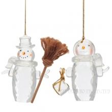 Новогоднее украшение Снеговик, 2,в. 12 см