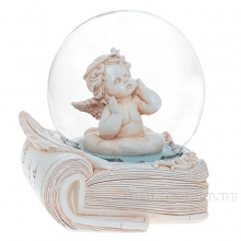 Фигурка декоративная в стеклянном шаре Ангел, L11 W10,5 H12,5 см