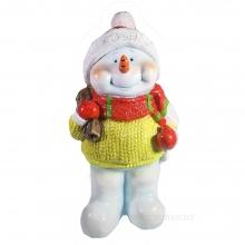 Фигура декоративная Снеговик с мешком L21 W16 H41.5 см
