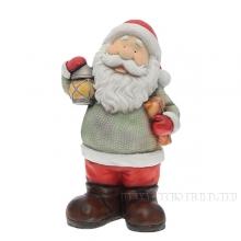 Фигура декоративная Дед Мороз с фонарем L26 W18 H47 см