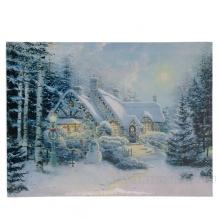 Панно Рождественский вечер с 5 светодиодами, L40 W1,8 H30 см (тип бат. АА-2 шт., не прилаг.)