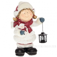 Фигура декоративная Девочка с фонарем, L29 W26 H52 см