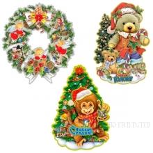Декоративное изделие Новогоднее панно26*39 см