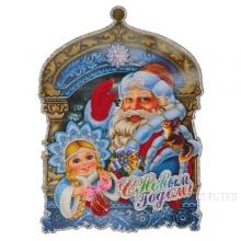 Декоративное изделие Новогоднее панно, 30х22 см