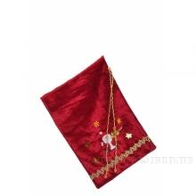 Мешок для подарков 35*24см (бархат бордо) ()