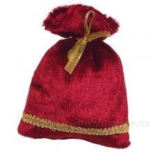 Мешок для подарков 15*12см (бордовый бархат) ()