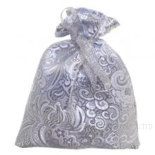 Мешок для подарков 15*12см (серебряная парча) ()