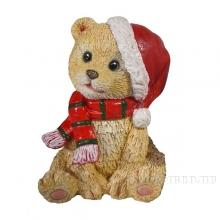 Фигура декоративная Мишка в колпаке (бежевый)L6W7H12см.