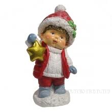 Фигура декоративная Мальчик со звездой (красный)L6.5W6H11.5