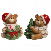 Фигура декоративная Медвежонок сидит , L8W11H10, 2в.