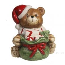 Фигура декоративная Медвежонок сидит с мешком L8W11H10