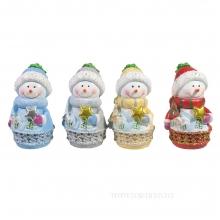 Фигура декоративная Снеговик 4в L5W5H9