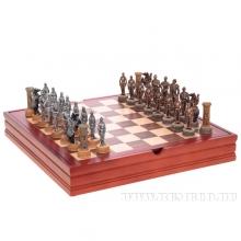 Настольная игра в шкатулке Шахматы, Рыцари, 3х3х9 см, 37х37 см
