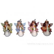 Фигурка декоративная Фея и лебедь (керамика), H 14 см, 4 в