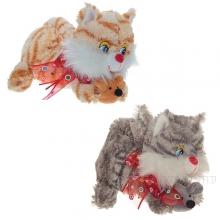 Игрушка мягконабивная Кошка, L 20 см, 2 в.