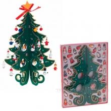 Елка новогодняя с украшениями, H 31 см