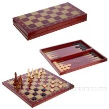 Игра настольная 3 в 1 (шахматы, шашки, нарды), L48 W24 H5см