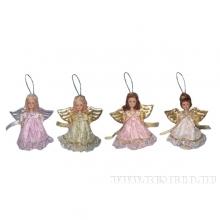 Фигурка декоративная Ангел (цельнофарфоровая в одежде), H 16 см, 4 в